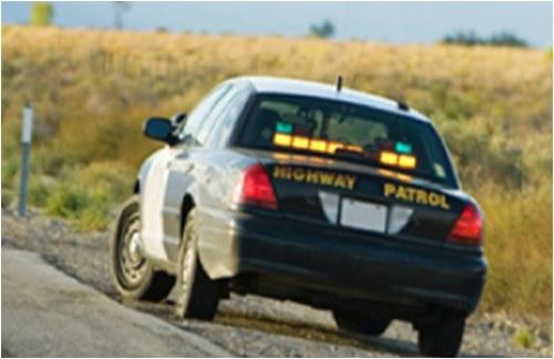 Police Car on Roadside