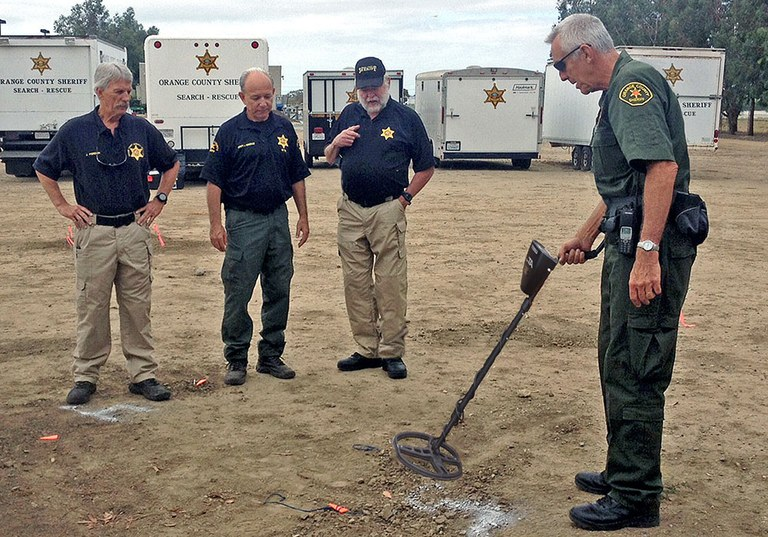 Members of the Orange County, California, Sheriff's Department's Metal Detection Team.