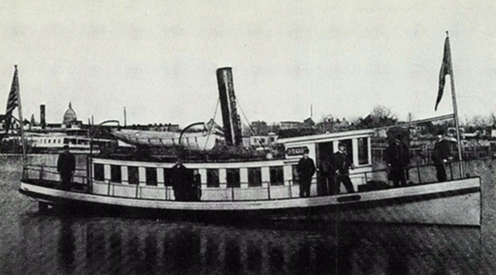 "The ""Joe Blackburn,"" an 87-foot police patrol boat purchased in 1886 for Potomac River harbor policing in the District of Columbia."