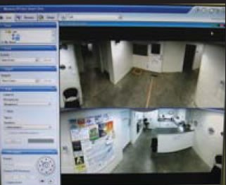 Depiction of what a well-placed security camera shows.