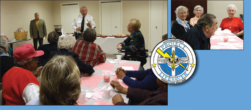 An officer is depicted at a Project Lifesaver Community educational event.