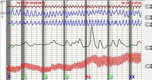 Polygraph Chart (Stock Image)