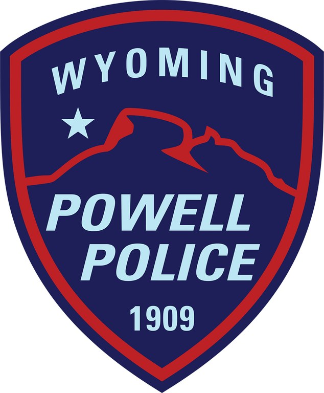 The police patch for the Powell, Wyoming, Police Department.