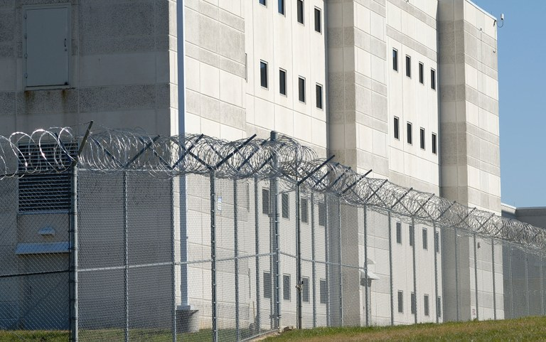 Stock image of a prison.