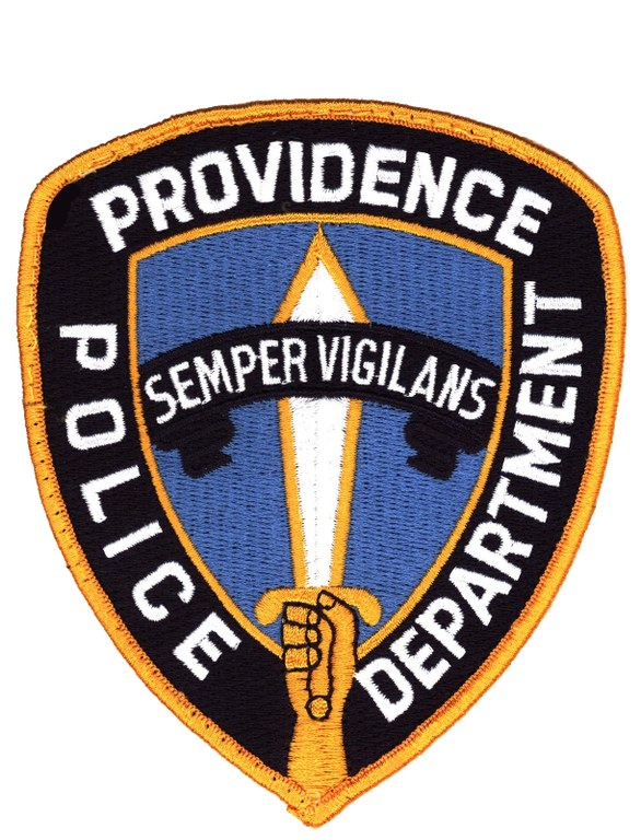A scanned image of the shoulder patch of the Providence, Rhode Island, Police Department.
