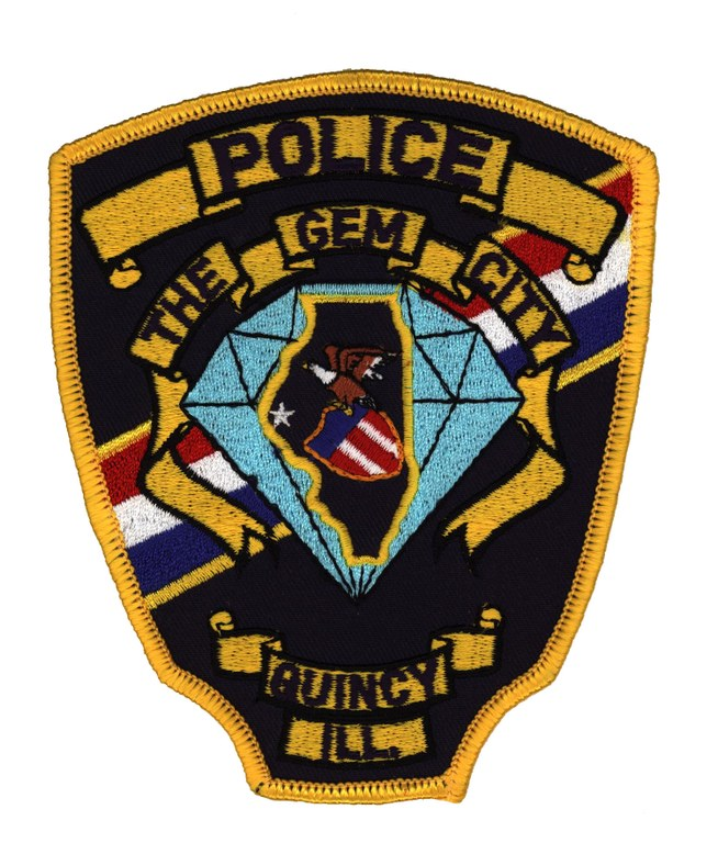 Police patch of the Quincy, llinois, Police Department.