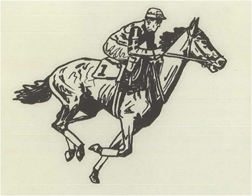 Sketch of a Racehorse