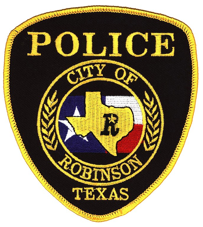 Image of the Robinson, Texas, Police Department shoulder patch.