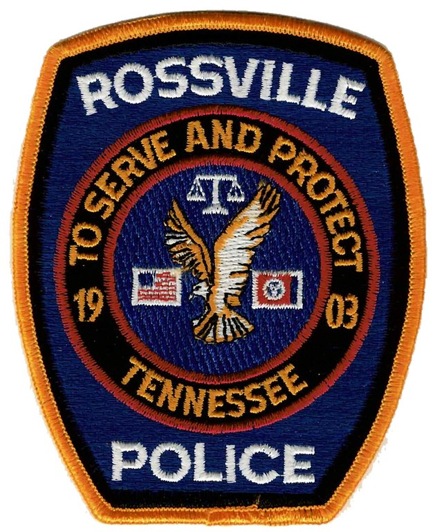 The shoulder patch of the Rossville, Tennessee, Police Department.