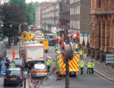 Emergency first responders at Russell Square in London, United Kingdom.