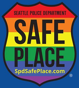 The logo of the Seattle Police Department's Safe Place program.