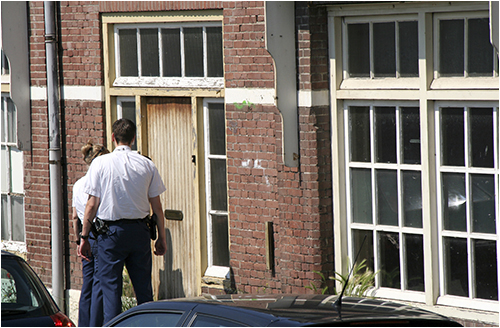 Police Officers at Door