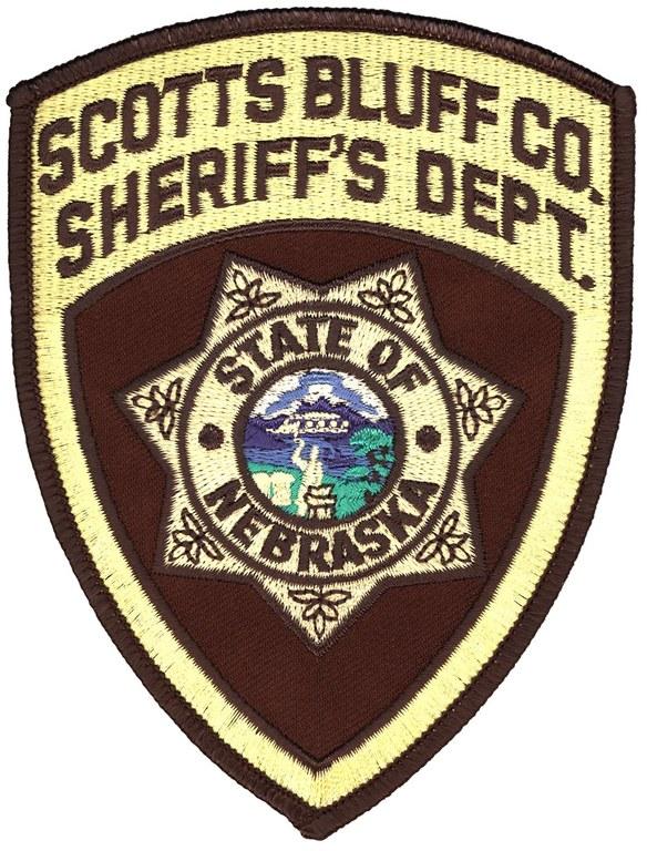 The shoulder patch of the Scotts Bluff County, Nebraska, Sheriff's Office.