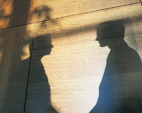 Shadow of Two People Shaking Hands (Stock Image)