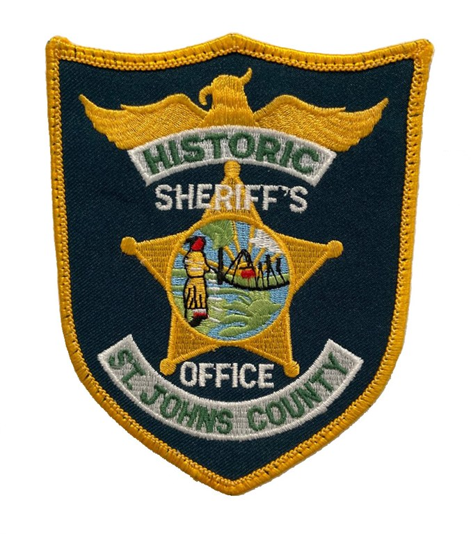 The shoulder patch of the St. Johns County, Florida, Sheriff's Office.