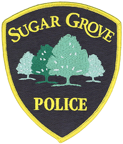 The patch of the Sugar Grove, Illinois, Police Department features a group of sugar maple trees. Settled in the mid-1830s, the village received its trees from one of the earliest settlers, P.Y. Bliss, who arrived from Stratford, Vermont, in 1838 with a supply of seedlings. He also established a trading post for early residents and Native Americans. The Bliss residence and trading post now is home for the local historical society and is one of the oldest structures in Kane County, Illinois.
