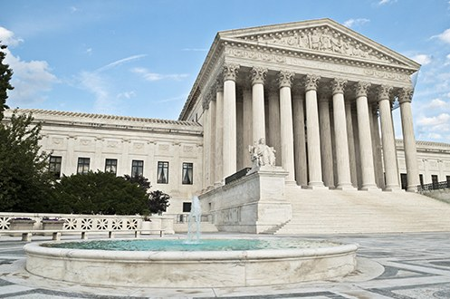 The outside of the Supreme Court building in Washington, D.C.