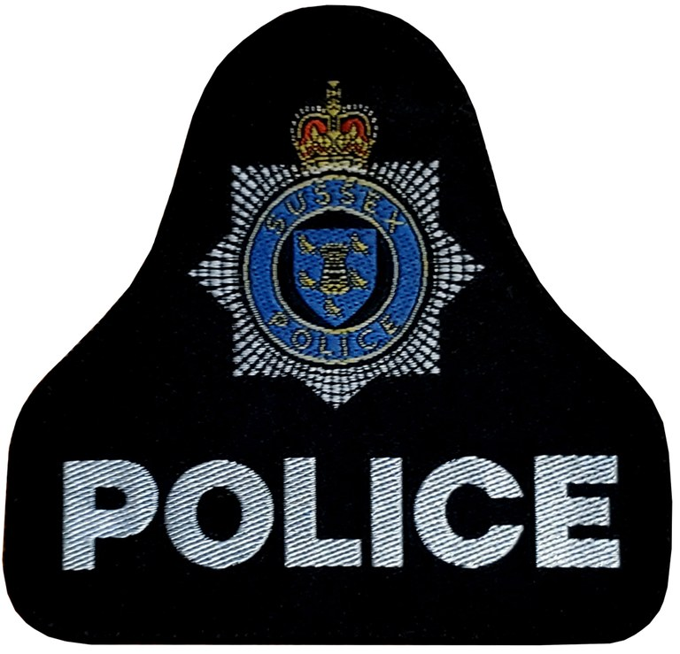 The shoulder patch of the Sussex, England, Police Force.