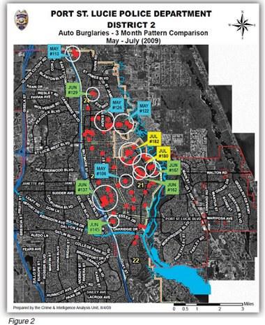 Port St. Lucie Auto Burglaries Map