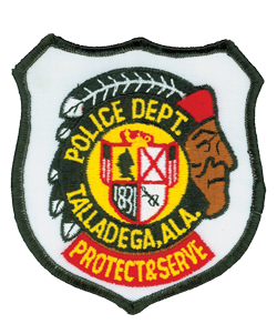 "The Talladega, Alabama, Police Department's patch reflects the city's heritage and honors the Creek Indians. Talladega is a Creek Indian word, which translates into English as ""border town."" Prior to the town's incorporation, it served for hundreds of years as a Creek Indian village."