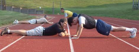 New Agent Trainees Doing Push-Ups