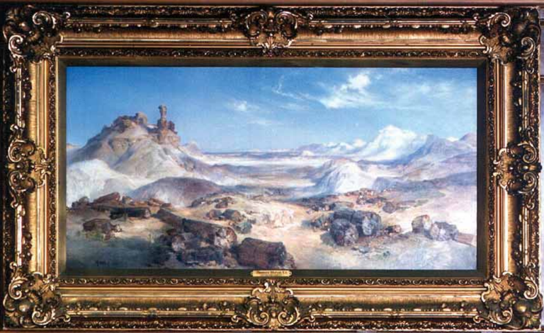 Works by noted artists—for example, Thomas Moran—have substantial financial and historic significance.