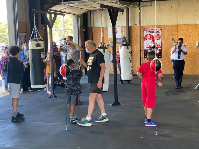 A photo of the Three Shields Boxing Academy gym.