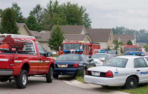 Emergency Response Vehicles in Neighborhood
