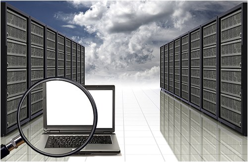 Server Farm in the Cloud (Stock Image)