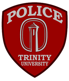"The patch of the Trinity University Police Department, located in San Antonio, Texas, represents the officers who promote the agency's motto of being ""proactive, progressive, and professional"" in serving the community. The university's 166-foot Murchison Tower rises from the center of campus and is visible from numerous vantage points throughout the city. It forever is part of San Antonio's skyline. The department shows its commitment to the community it protects by placing this prominent symbol in the center of the patch."