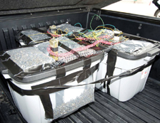 Hosam Smadi's vehicle-borne improvised explosive device. Smadi attempted to bomb Fountain Place in Dallas, Texas.