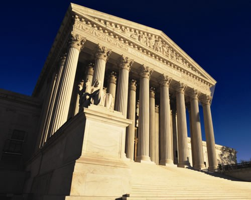 Outside of the U.S. Supreme Court building in Washington, D.C.