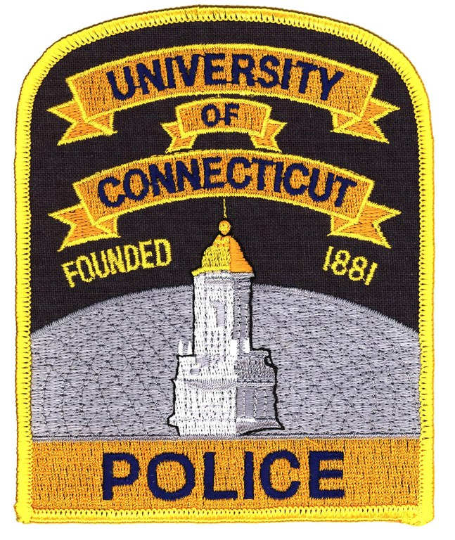 The shoulder patch of the University of Connecticut Police Department.