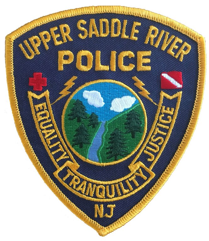 The shoulder patch of the Upper Saddle River, New Jersey, Police Department.