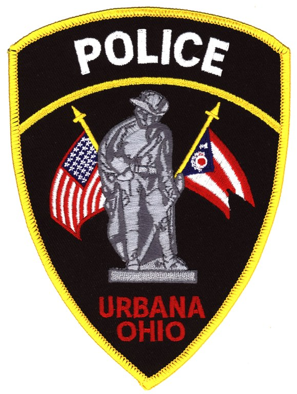 A scanned image of the Urbana, Ohio, Police Division shoulder patch.