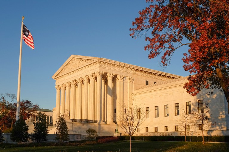 A stock image of the U.S. Supreme Court Building.