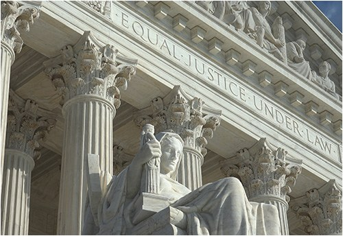 Entrance to the U.S. Supreme Court building in Washington, D.C.