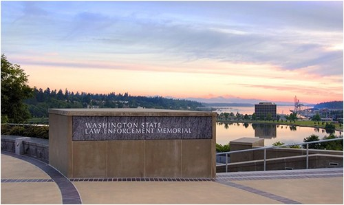 The Washington State Law Enforcement Memorial was dedicated in May 2006. The memorial is meant to be a lasting tribute to officers who gave their lives while protecting others.