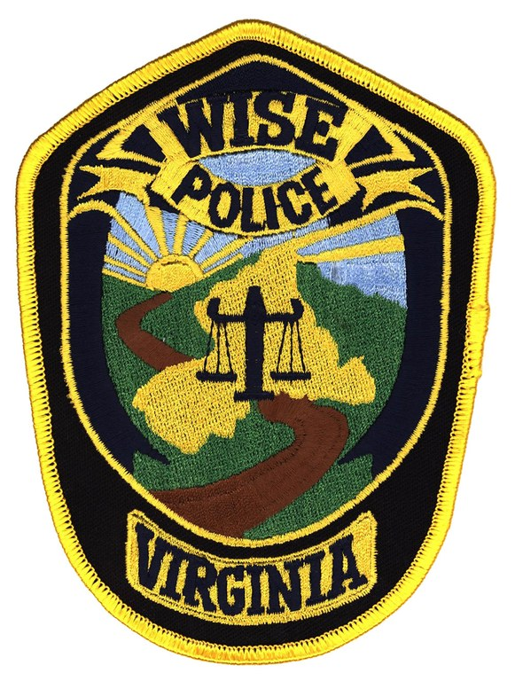 A scanned image of the shoulder patch of the Wise, Virginia, Police Department.